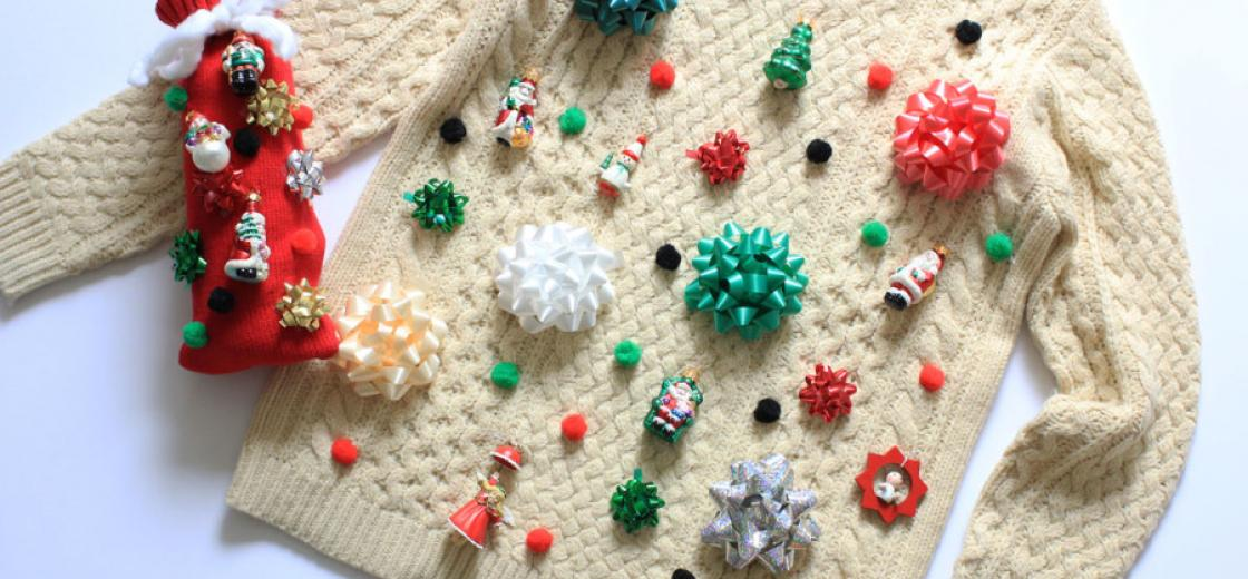 diy ugly christmas sweater - Ugly Christmas Decorations