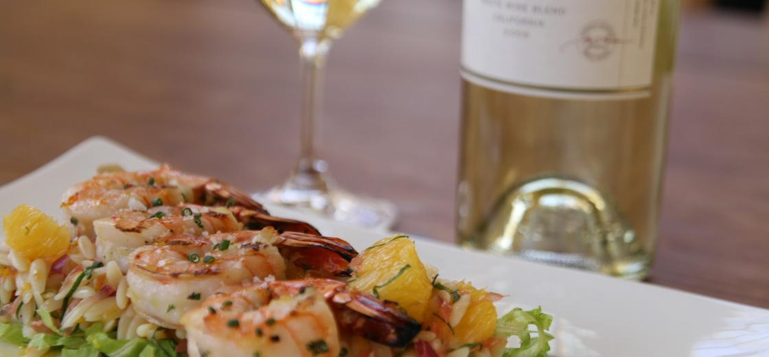 Grilled Shrimp With Citrus Orzo Salad