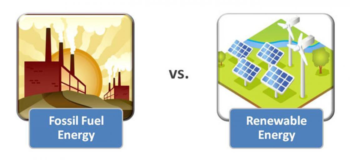 Fossile Fuel vs Renewable V3