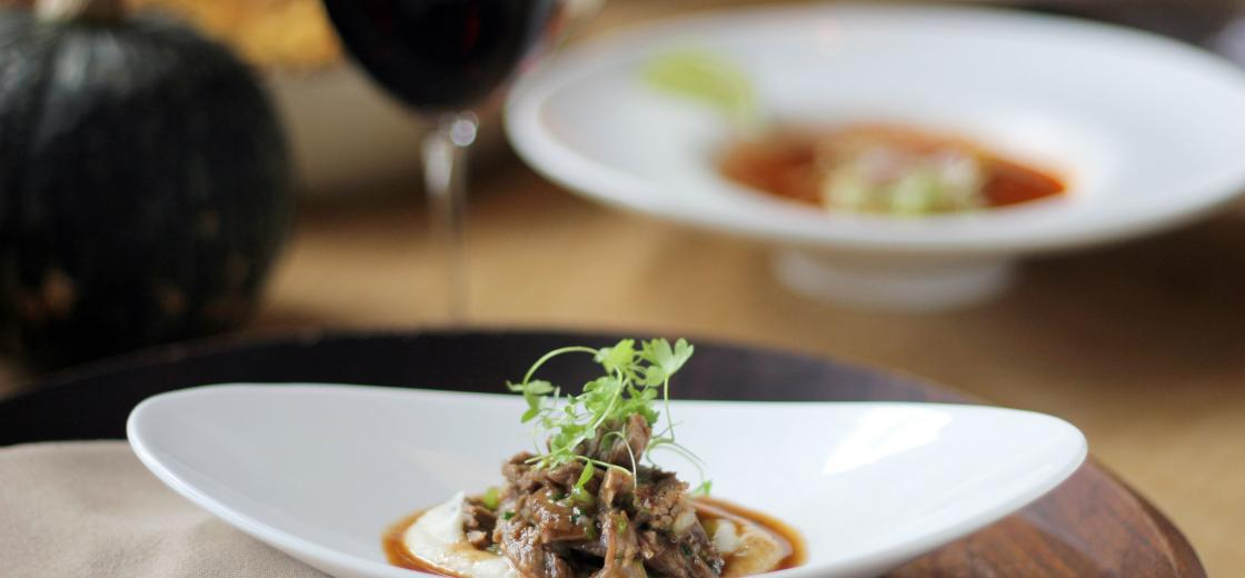 Red Wine Braised Short Ribs With Truffled Celery Root Puree
