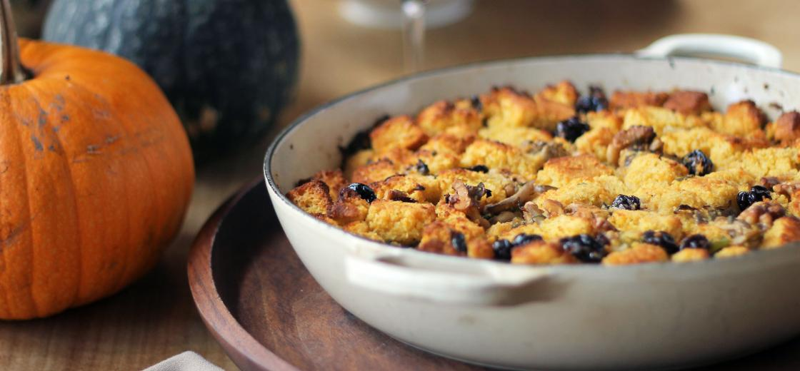 Vegetarian And Gluten-Free Cornbread Stuffing