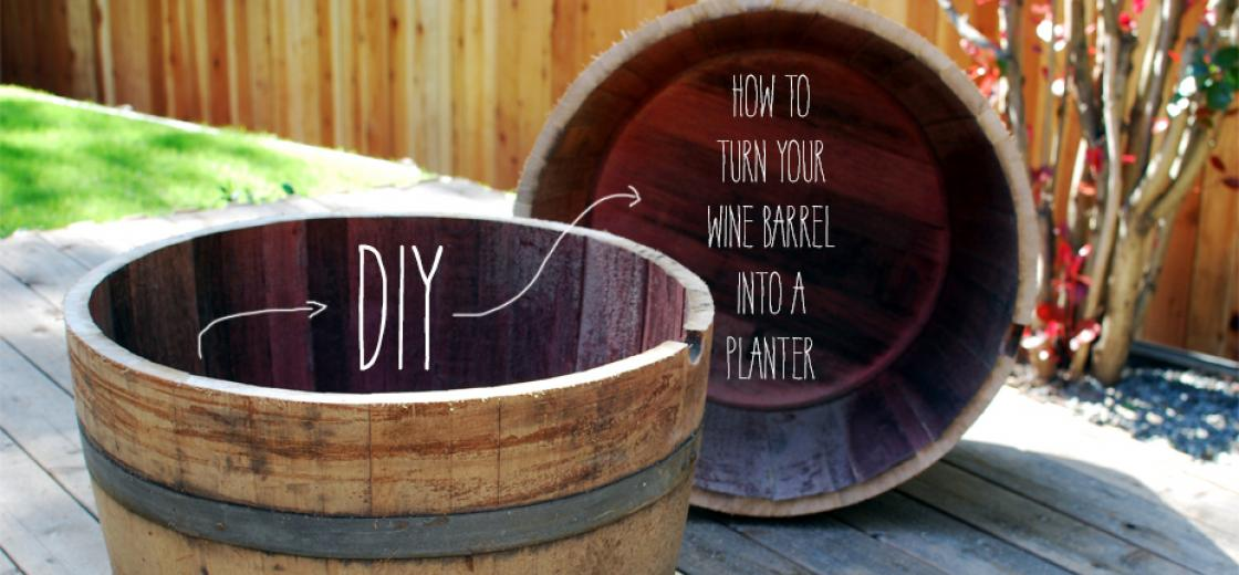 Diy how to turn your wine barrel into a planter for Diy wine barrel planter