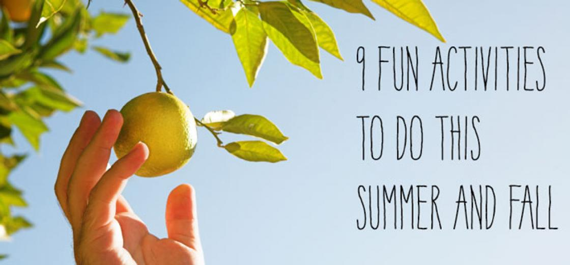9 Fun Activities To Do This Summer and Fall