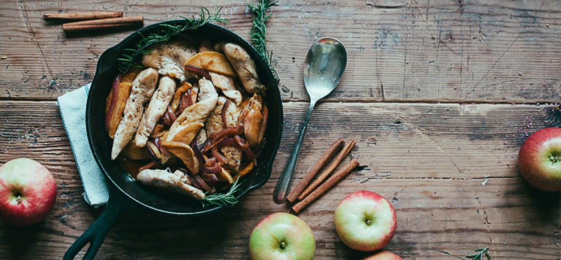 Recipe: Chicken with Apples and Chardonnay