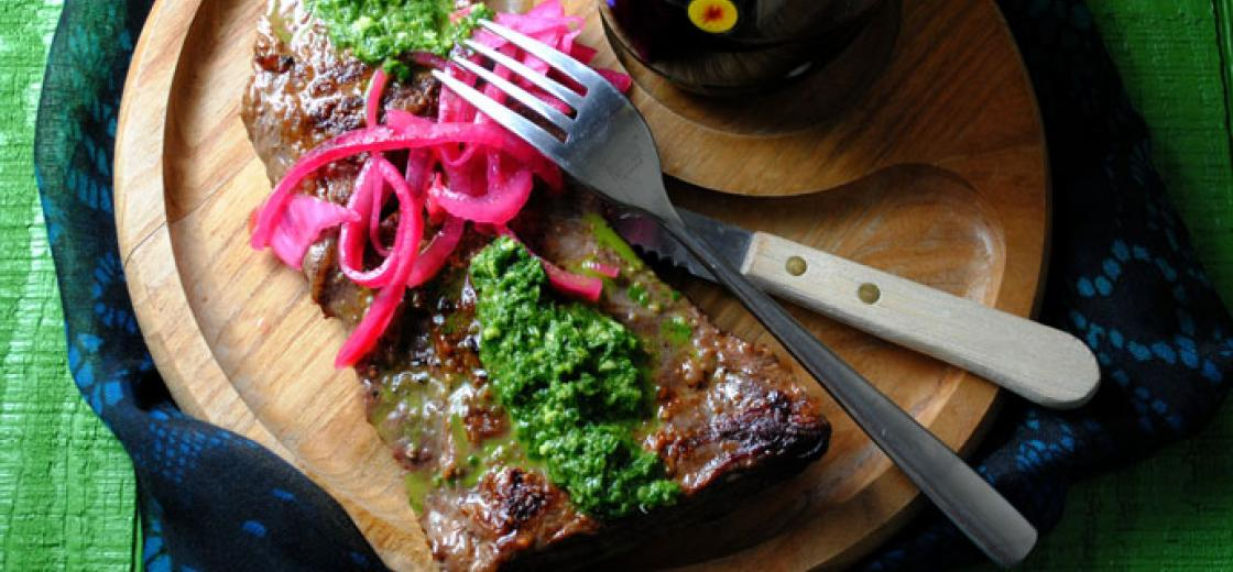 Skirt Steak with Chimichurri Sauce #Recipe from the Kendall-Jackson Blog