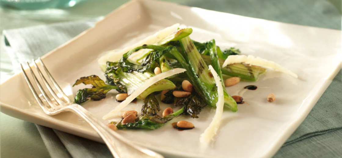 Grilled Celery with Truffle Oil