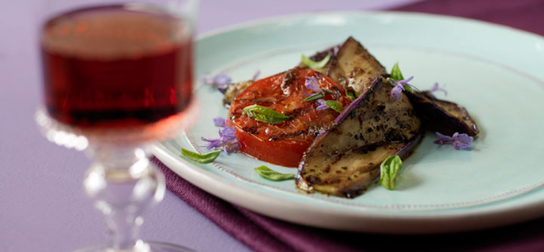 Grilled Eggplant and Tomatoes