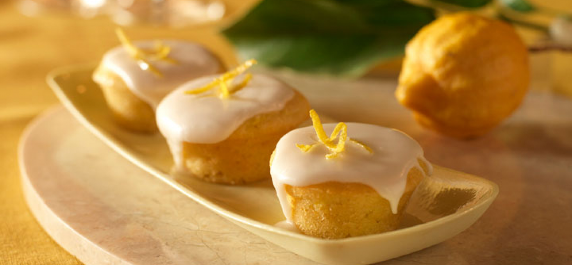 Mini Summer Squash Cupcakes with Lemon Glaze