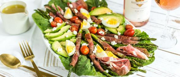 Baked Asparagus and Prosciutto Cobb Salad