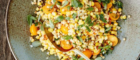 Corn Fregula Salad