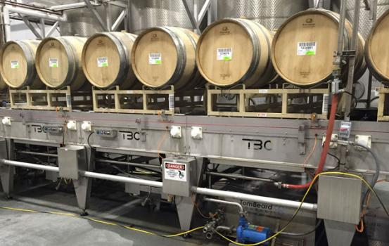 The barrel line now uses 33% less water than what is required for conventional barrel washing, and the same reductions apply to the embodied energy savings required to heat water for barrel washing.