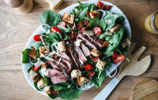 Steak Salad with Honey Dijon Dressing - a recipe that's perfect for your summer grill parties.