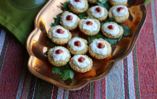 Spicy Ricotta Mini Tarts are always, always good to have prepared tart shells in your freezer. They can be easily transformed into a sweet or savory bite if unexpected guests should pop in.