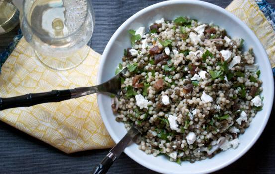 Israeli Couscous and Lentil Salad