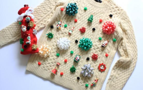 Now, with ugly Christmas sweater contests becoming a common tradition around the holidays, it's a lot harder to find cheap options. And since I'm not particularly excited about spending $25 on a sweater that's supposed to be