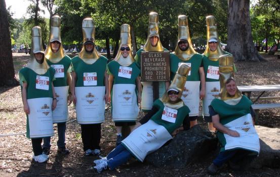 2012 Human Race bottle walkers