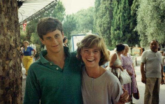 Matt Smith and friend at 16 in France