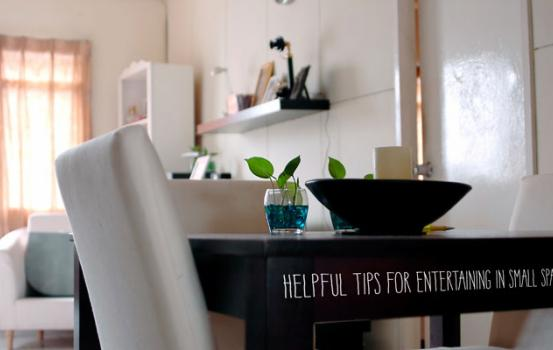 Helpful Tips for Entertaining in Small Spaces