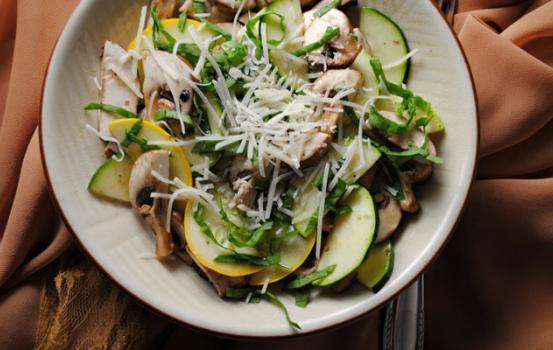 Shaved Salad with Guajillo-Lime Vinaigrette