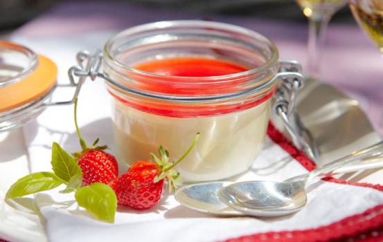 Goat Cheese Cheesecake & Strawberry Verbena Gelee