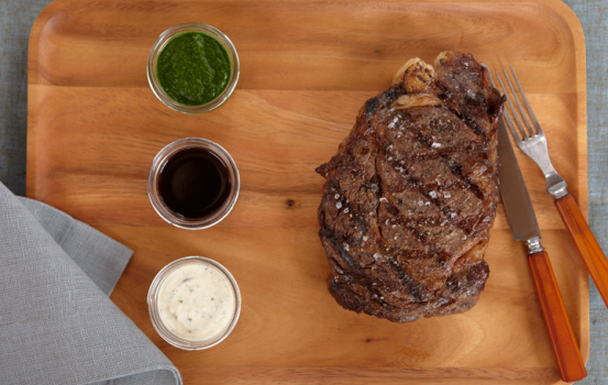 Grilled Rib-Eye with Bearnaise Mayonnaise