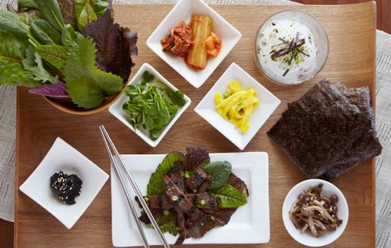 Korean Style Kobe Beef Lettuce Wrap