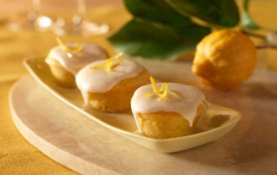 Mini Summer Squash Cupcakes with Lemon Glaze