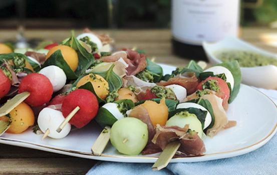 This Melon Caprese Skewer recipe combines two classic Italian ingredient combos with a fresh watermelon twist to make it the ultimate summer snack.