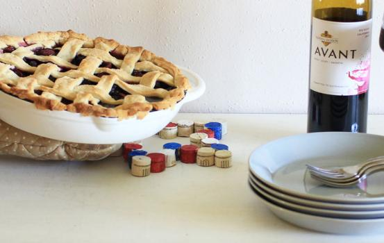 DIY Cork Star Trivet and Red Wine Blueberry Pie