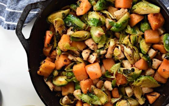 This Winter Chicken and Vegetable Skillet is super easy, really delicious and perfect for a Monday night after a long day in the office.