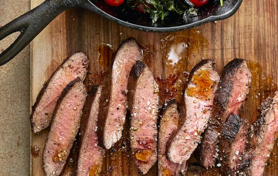 Flat Iron Steak with Cherry Tomatoes