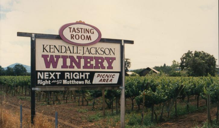 The original Kendall-Jackson Winery located in Lake County, California.