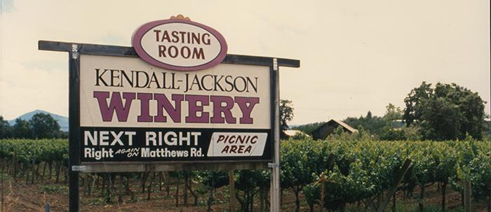 The first location of Kendall-Jackson winery in Lake County, California.