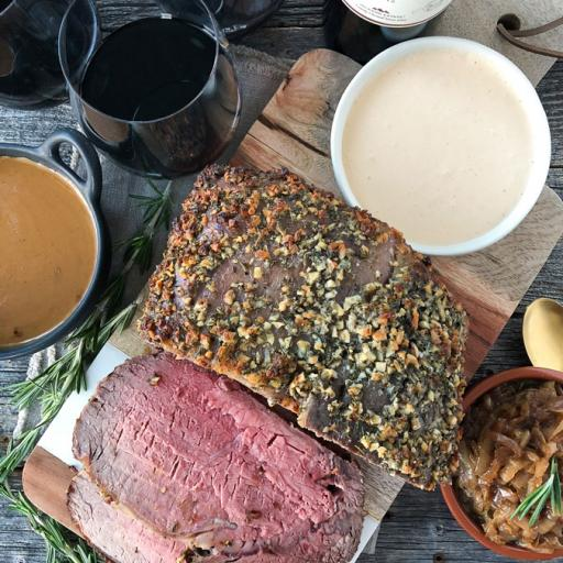 Prime Rib with Rosemary Garlic Butter Rub
