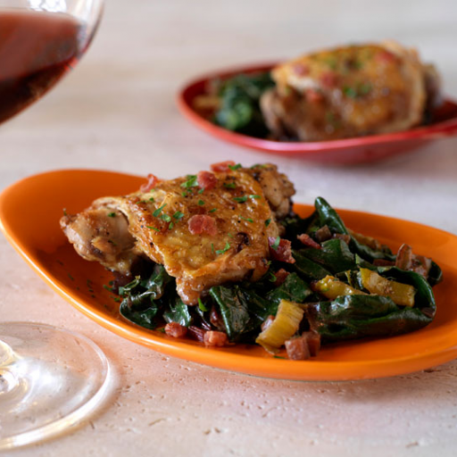 Braised Chicken with Swiss Chard