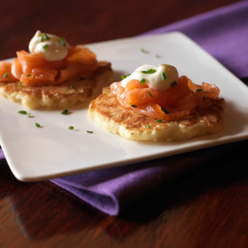 Citrus-Cured Salmon on Blini