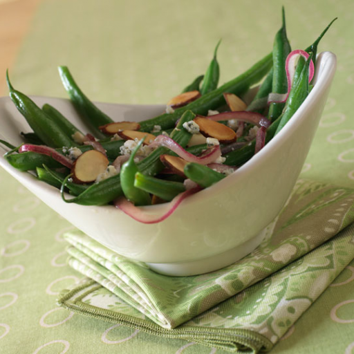 Green Beans with Blue Cheese and Almonds