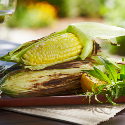 Grilled Corn with Lemon Verbena Butter