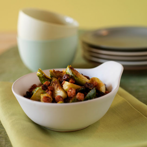 Roasted Brussels Sprouts with Chorizo