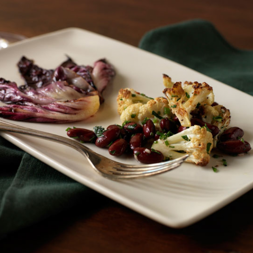 Roasted Cauliflower with Braised Radicchio