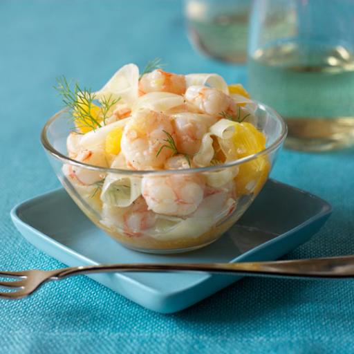 Rock Shrimp, Citrus and Fennel Salad