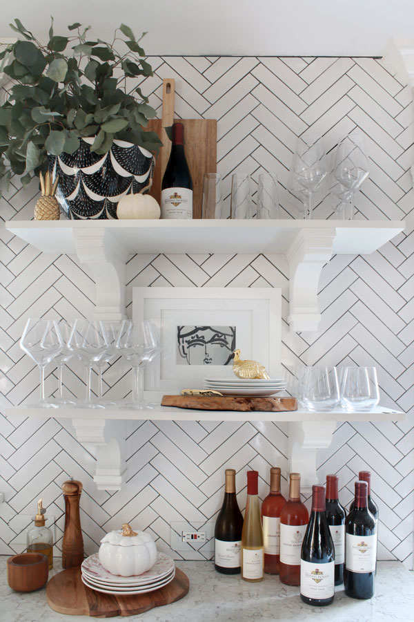 While bar carts are all the rage but not everyone has the space for one. That's why we're showing you how to create a wine bar in any space.